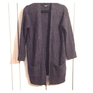 Cotton On open knit charcoal sweater w/ pockets